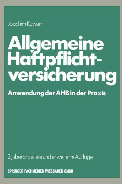 Allgemeine Haftpflichtversicherung - Coverbild