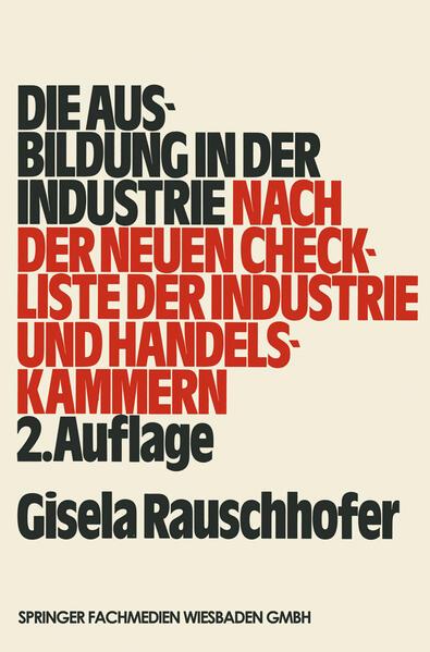 Die Ausbildung in der Industrie - Coverbild