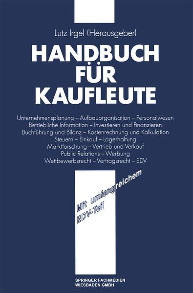 Handbuch für Kaufleute - Coverbild