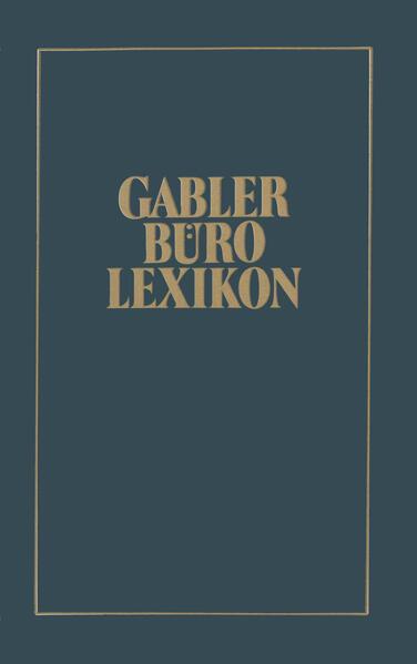 Gabler Büro Lexikon - Coverbild