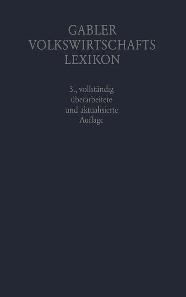 Gabler Volkswirtschafts Lexikon - Coverbild