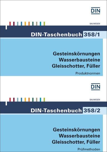 Gesteinskörnungen, Wasserbausteine, Gleisschotter, Füller - Coverbild