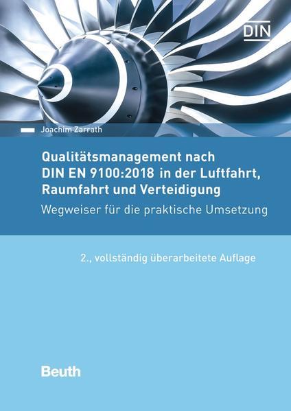 Qualitätsmanagement nach DIN EN 9100:2016 in der Luftfahrt, Raumfahrt und Verteidigung - Coverbild