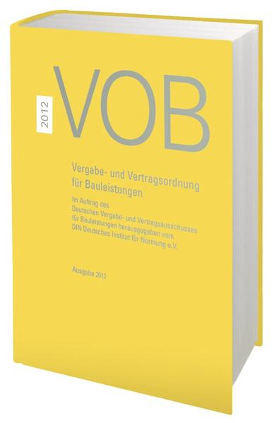 VOB 2012 Gesamtausgabe - Coverbild