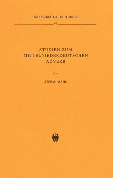 Studien zum mittelniederdeutschen Adverb - Coverbild