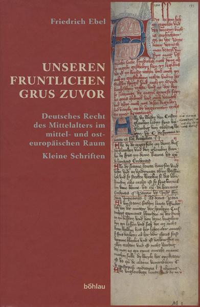 Ebel, Friedrich: Unseren fruntlichen grus zuvor - Coverbild