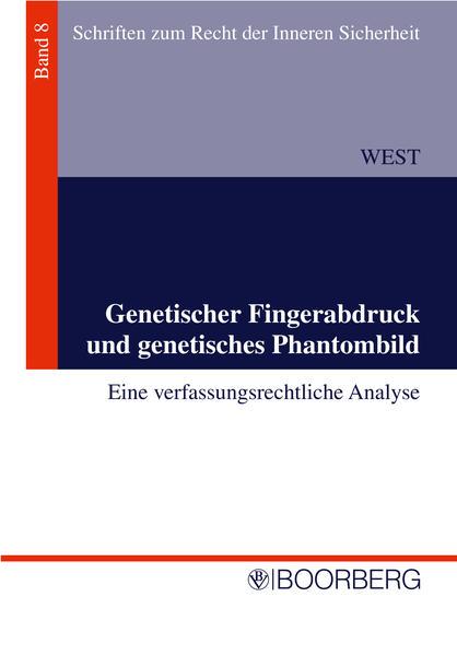 Genetischer Fingeradruck und genetischen Phantombild - Coverbild