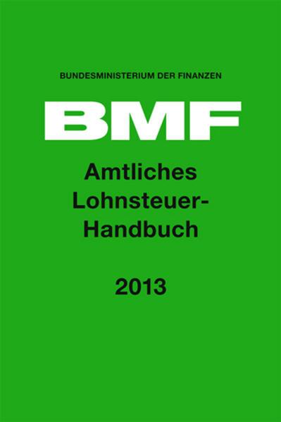 Amtliches Lohnsteuerhandbuch 2013 - Coverbild