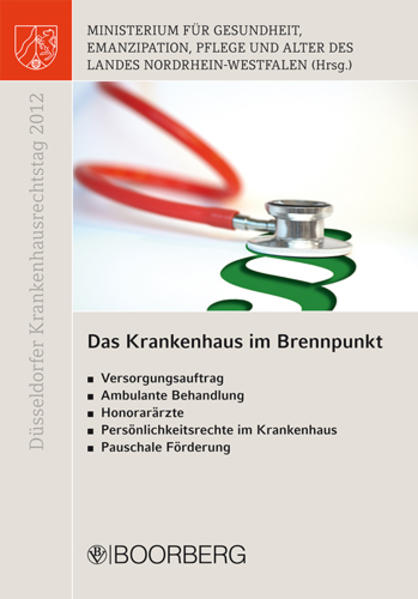 Düsseldorfer Krankenhausrechtstag 2012 - Coverbild