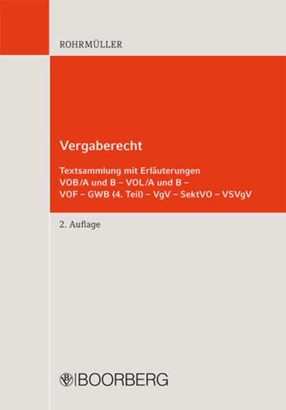 Vergaberecht Textsammlung mit Erläuterungen - Coverbild