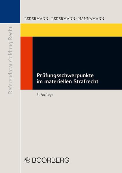 Prüfungsschwerpunkte im materiellen Strafrecht - Coverbild