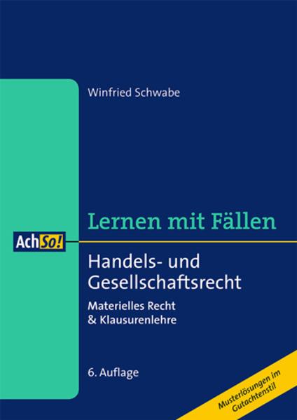 Handels- und Gesellschaftsrecht - Coverbild