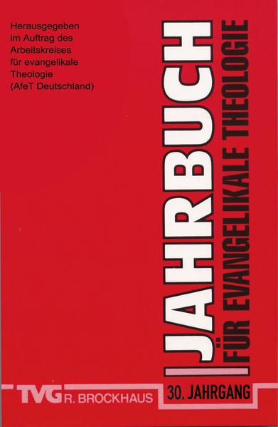 Jahrbuch für evangelikale Theologie 2016 - Coverbild
