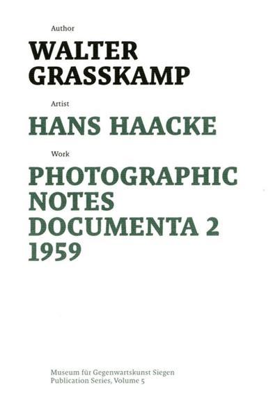 Hans Haacke - Coverbild