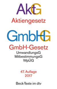 Aktiengesetz · GmbH-Gesetz Cover