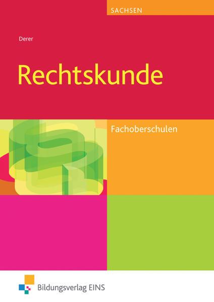 Rechtskunde / Rechtskunde für Fachoberschulen in Sachsen - Coverbild