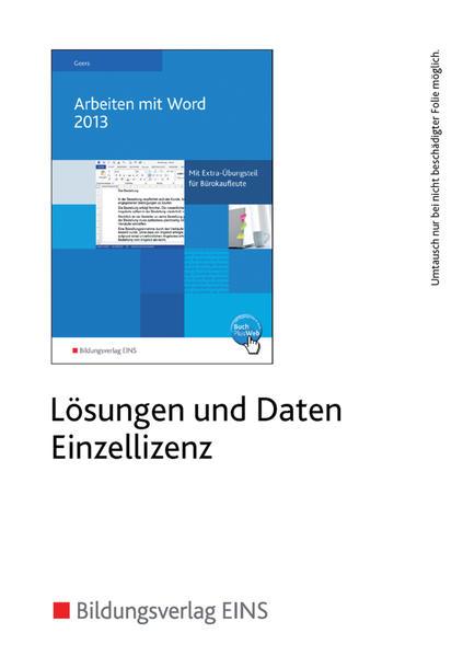 Arbeiten mit Word 2013 - Coverbild