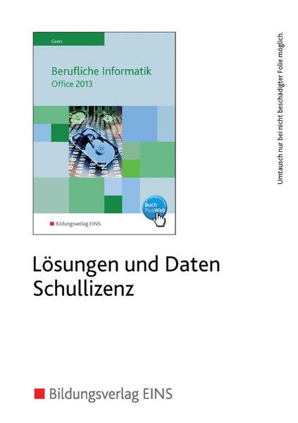 Berufliche Informatik / Berufliche Informatik Office 2013 - Coverbild