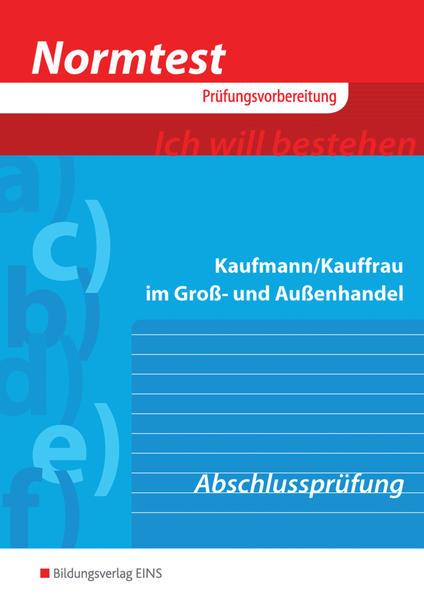 Normtest / Normtest Kaufmann/Kauffrau im Groß- und Außenhandel - Coverbild