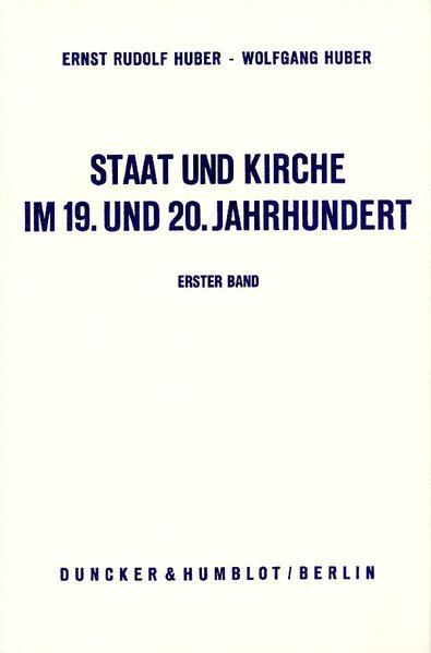Staat und Kirche im 19. und 20. Jahrhundert. - Coverbild