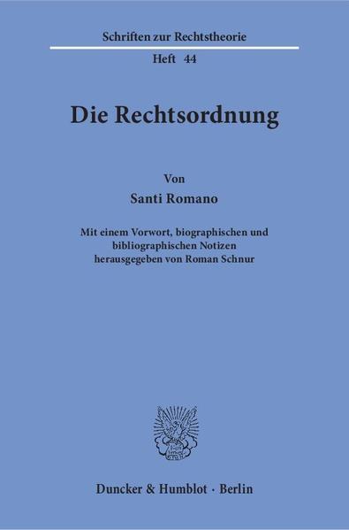 Die Rechtsordnung. - Coverbild