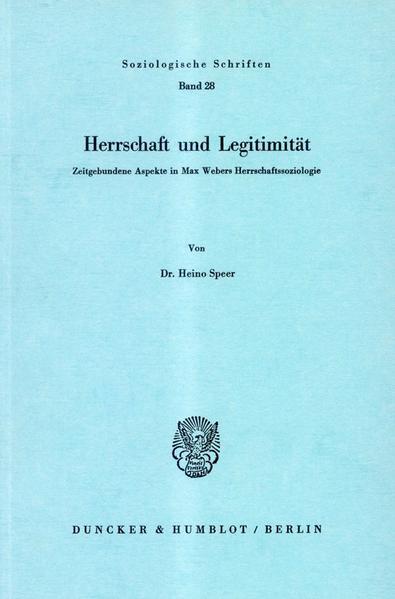 Herrschaft und Legitimität. - Coverbild