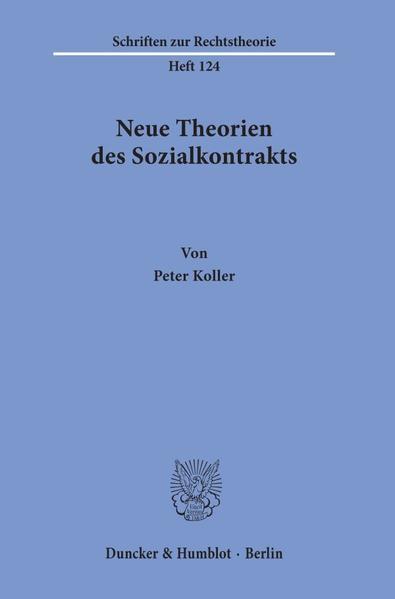 Neue Theorien des Sozialkontrakts. - Coverbild