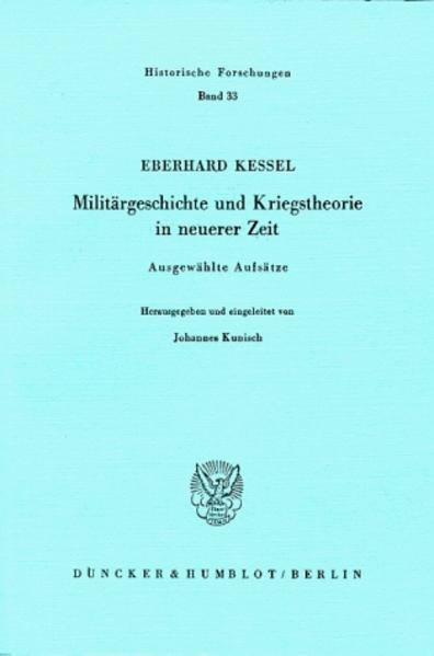 Militärgeschichte und Kriegstheorie in neuerer Zeit. - Coverbild
