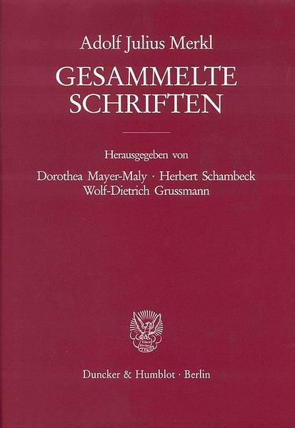 Gesammelte Schriften. 3 Bände (6 Teilbände). - Coverbild