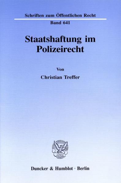 Staatshaftung im Polizeirecht. - Coverbild