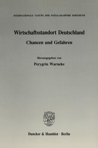 Wirtschaftsstandort Deutschland. - Coverbild