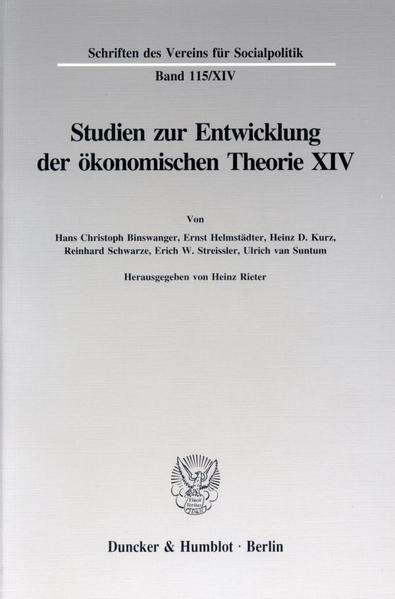 Johann Heinrich von Thünen als Wirtschaftstheoretiker. - Coverbild
