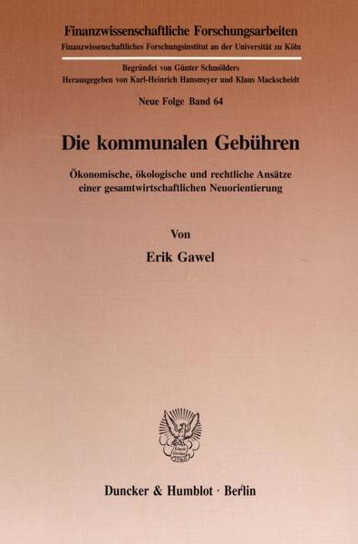 Die kommunalen Gebühren. - Coverbild