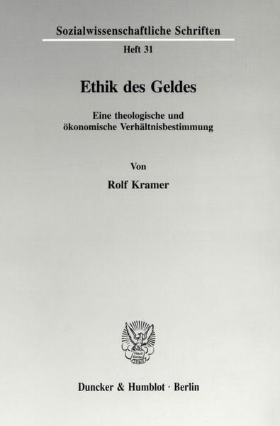 Ethik des Geldes. - Coverbild