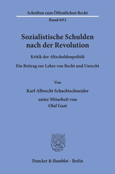 Sozialistische Schulden nach der Revolution. - Coverbild
