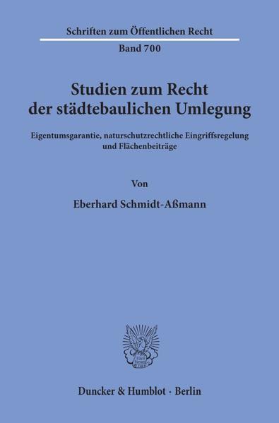 Studien zum Recht der städtebaulichen Umlegung. - Coverbild