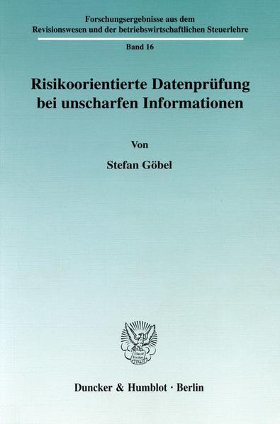 Risikoorientierte Datenprüfung bei unscharfen Informationen. - Coverbild