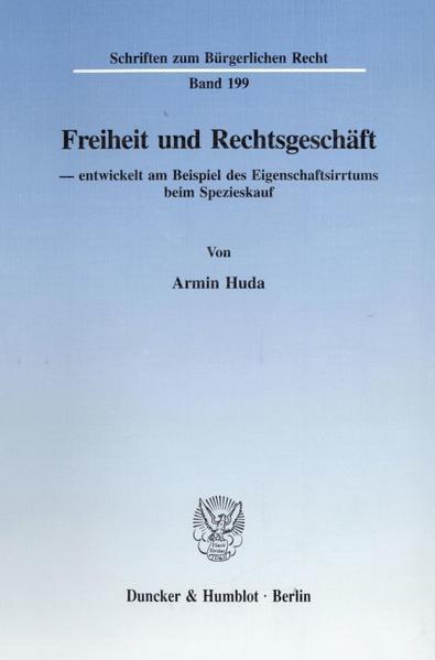 Freiheit und Rechtsgeschäft - Coverbild