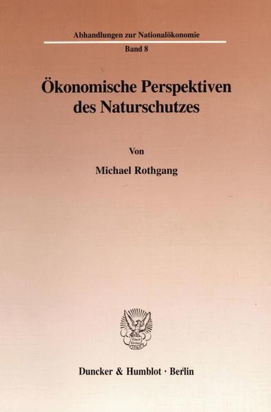 Ökonomische Perspektiven des Naturschutzes. - Coverbild