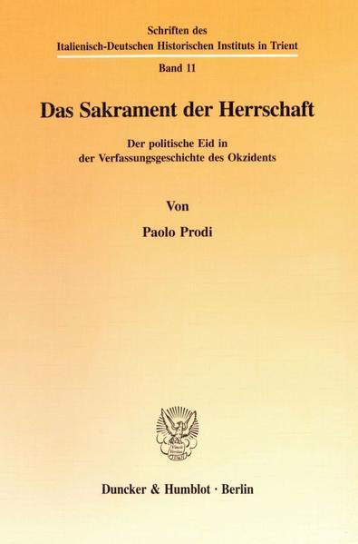 Das Sakrament der Herrschaft. - Coverbild