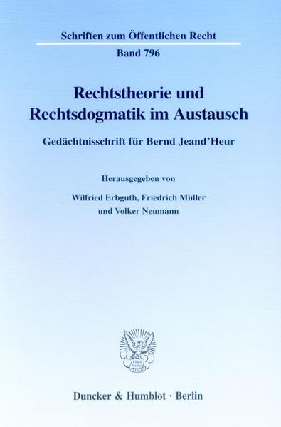 Rechtstheorie und Rechtsdogmatik im Austausch. - Coverbild