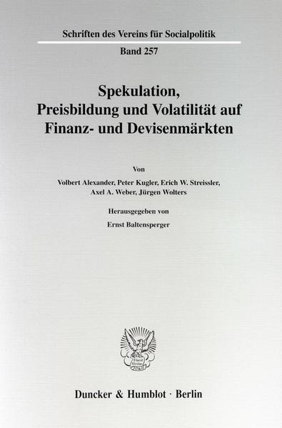 Spekulation, Preisbildung und Volatilität auf Finanz- und Devisenmärkten. - Coverbild