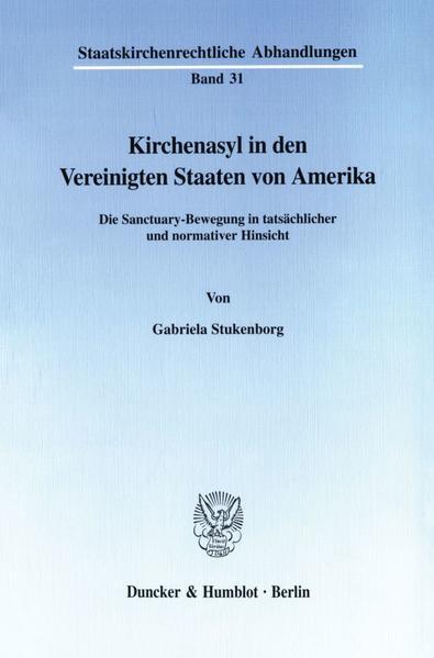 Kirchenasyl in den Vereinigten Staaten von Amerika. - Coverbild