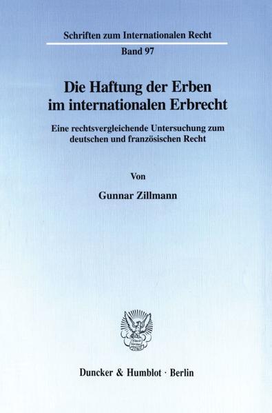 Die Haftung der Erben im internationalen Erbrecht. - Coverbild