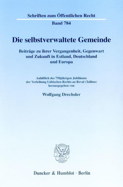 Die selbstverwaltete Gemeinde. - Coverbild