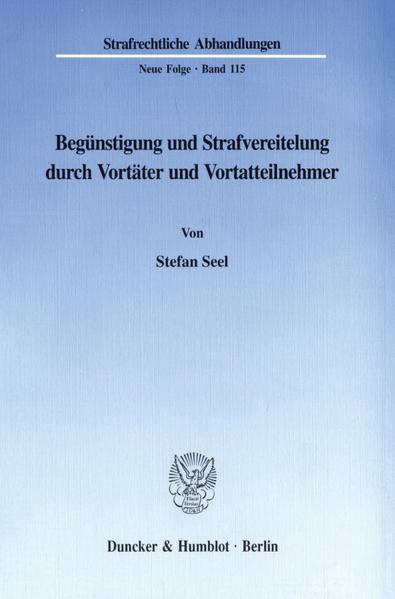 Begünstigung und Strafvereitelung durch Vortäter und Vortatteilnehmer. - Coverbild