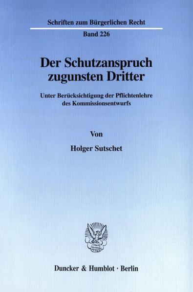 Der Schutzanspruch zugunsten Dritter. - Coverbild