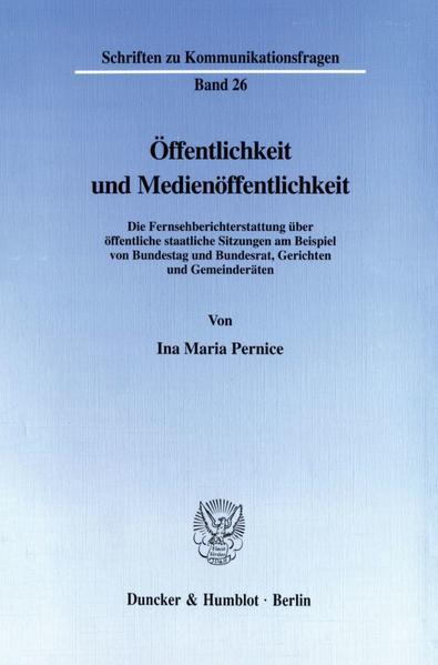 Öffentlichkeit und Medienöffentlichkeit. - Coverbild