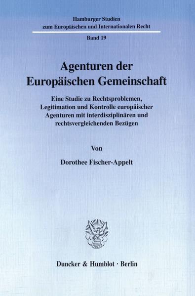Agenturen der Europäischen Gemeinschaft. - Coverbild
