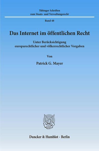 Das Internet im öffentlichen Recht. - Coverbild